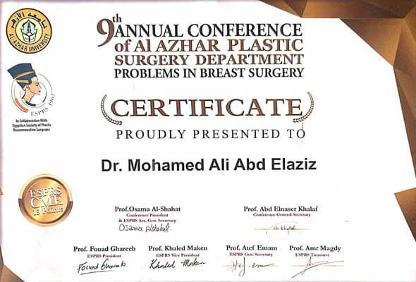 9th confrence of plastic surgery from Alazhar