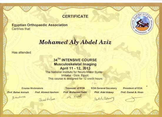 34th intensive course musculoskeletal imaging